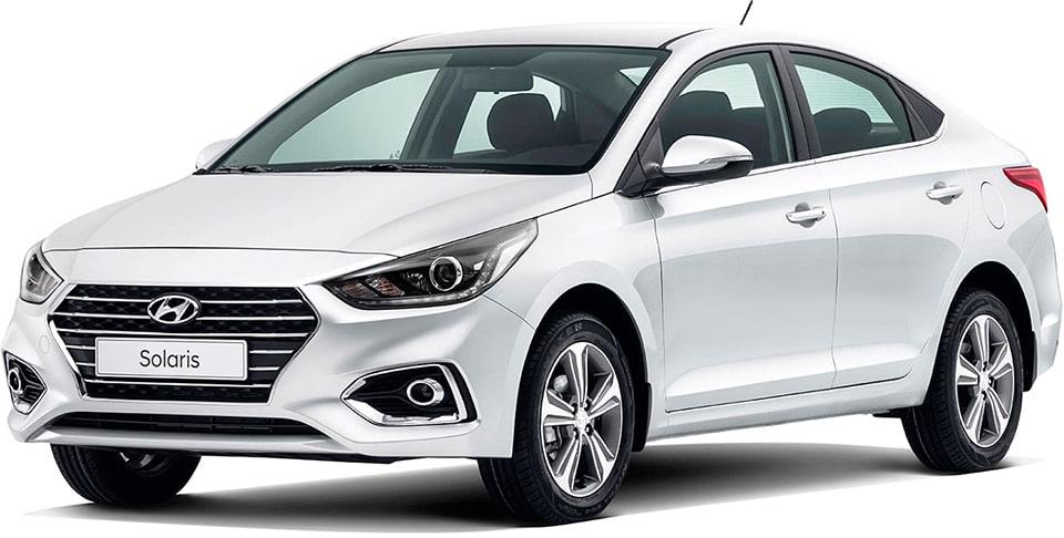 «Такси в лизинг» — Hyundai Solaris.